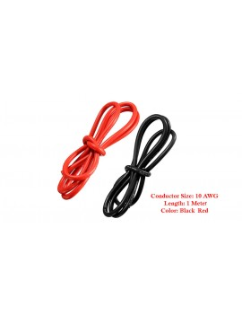 10AWG Soft Flexible Silicone Wire Cable (200cm/2 Pieces)
