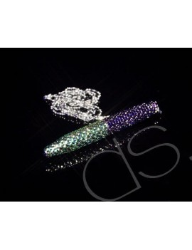 Compass Swarovski Crystallized Short Ball Pen (With Chain)