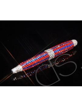 Belca Stripe Swarovski Crystallized Mid-Size Ball Pen