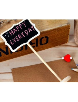 12 Pcs Rectangle Chalkboard Memo Holder for Party Wedding Decor
