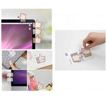 2 Pack Thumb Up Series Sticky Notes