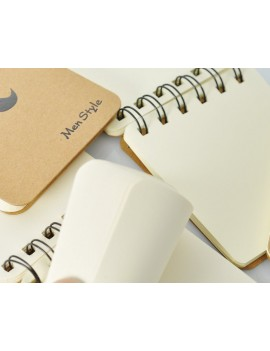 4 Pcs Spiral Blank Page Composition Memo Notebook