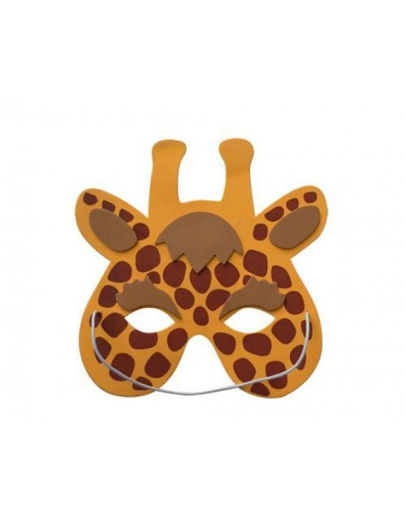 12 Assorted Foam Animal Masks for Dress-Up Costume