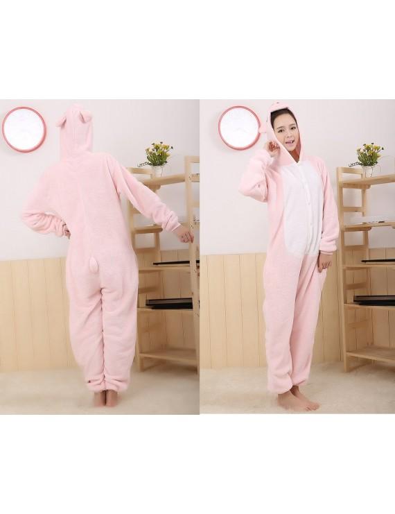 One Size One Piece Pig Pyjama - Pink