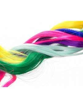 Colored Clip in Hair Extensions 22 Pieces 19.7 Inch Highlights Hairpieces