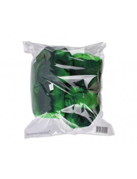 1 Pair 9.5 inch Plush Fist Gloves - Green by DS.DISTINCTIVE STYLE
