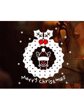 Christmas Home Decoration Reindeer Wall Window Sticker Decal