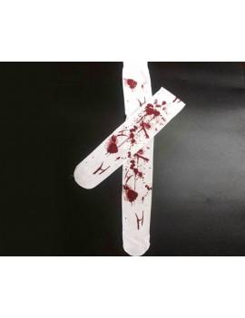 Elastic White Bloody Stockings Set of 2 Zombie Costume