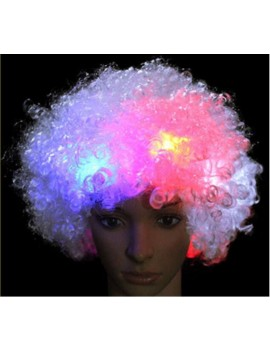 Flashing Afro Wig
