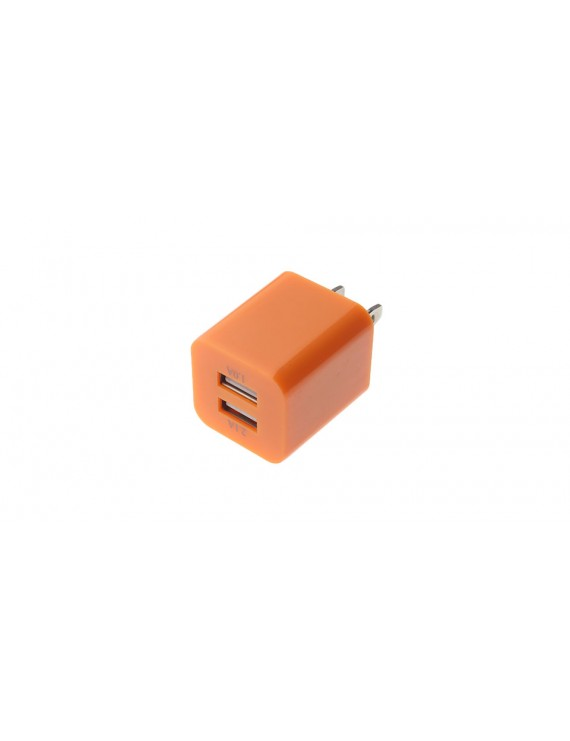 2.1A/1.0A Double USB AC Power Adapter (US Plug)