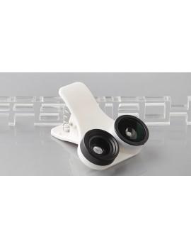 3-in-1 Clip-on 180' Fisheye + 0.67X Wide Angle + Macro Lens