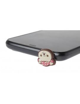Bear Styled 3.5mm Audio Jack Minipol Ear Cap / Dust Plug for Cellphones (Pair)