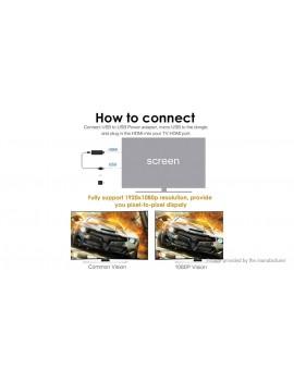 1080p AV HDMI Dual Output Wifi TV Cast Dongle